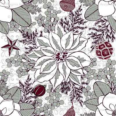 Elegant Holiday Blossoms, XL