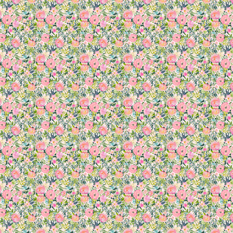 "1.5"" Pink Lemonade - Ivory fabric by shopcabin on Spoonflower - custom fabric"