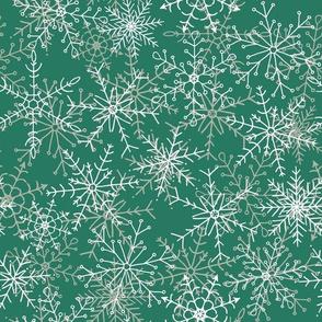 Elegant Snowflakes in Wintergreen