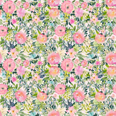 "4"" Pink Lemonade - Ivory fabric by shopcabin on Spoonflower - custom fabric"