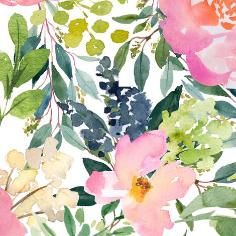"21"" Pink Lemonade - White fabric by shopcabin on Spoonflower - custom fabric"