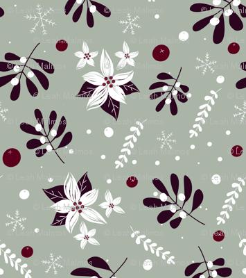 Mistletoe & Poinsettia
