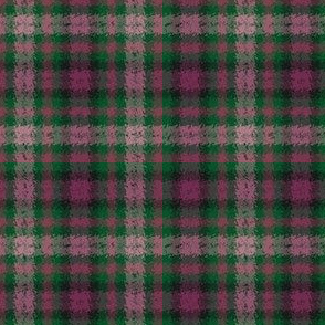 JP27 - Pine Green and Rustic Raspberry Jagged Plaid