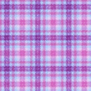 JP21 - Lavender, Purple and Fuchsia Jagged Plaid