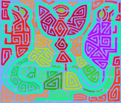 Kuna Bird and Turtles