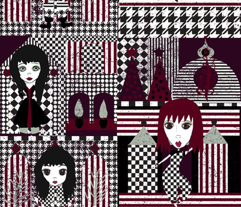 Goth Christmas fabric by orangefancy on Spoonflower - custom fabric