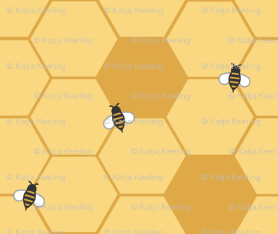 Gold Honeycomb (Small)