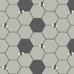 Gray Honeycomb (Small)