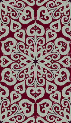 romantic snowflakes - large