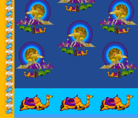 Debbies Moroccan Moon fabric by nannette_cloete on Spoonflower - custom fabric