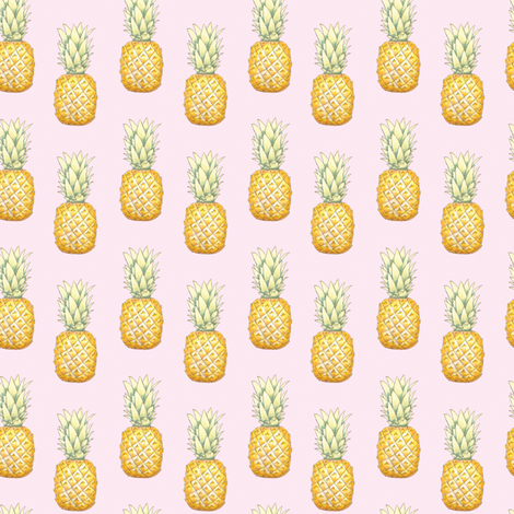 Pineapple Pattern fabric by courtneymooredesigns on Spoonflower - custom fabric