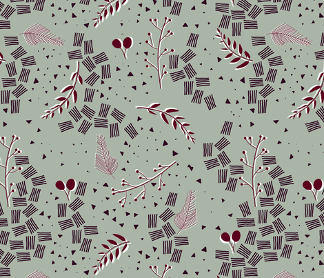 Holiday Dinner Party fabric by tomatodumplings on Spoonflower - custom fabric