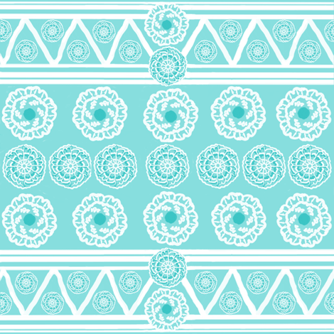 Native American by Birth Sampler fabric by fabric_is_my_name on Spoonflower - custom fabric