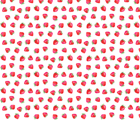 Plump Strawberries/Smaller fabric by ileneavery on Spoonflower - custom fabric
