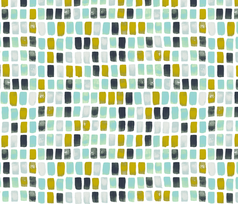 Brick-a-Brack in Iridescent Gator fabric by bluedesignhouse on Spoonflower - custom fabric
