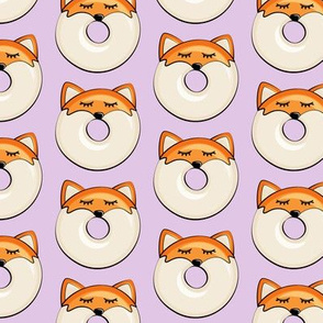 fox donuts on purple