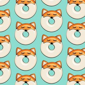 fox donuts on dark aqua