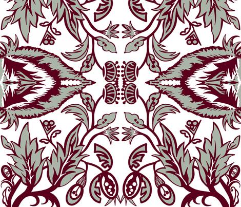 Garden Dinner Party sewindigo fabric by sewindigo on Spoonflower - custom fabric