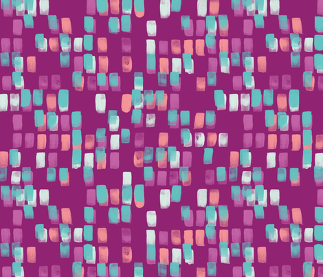 Brick-a-Brack in Purple Candy fabric by bluedesignhouse on Spoonflower - custom fabric