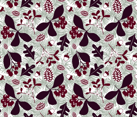 Forest Finds  fabric by inkytinc on Spoonflower - custom fabric