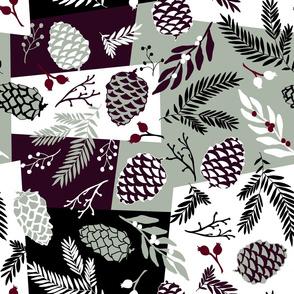 Pine Sprigs & Cones - Elegant Holiday
