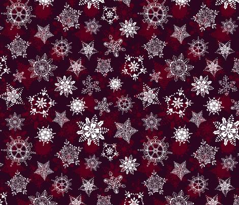 Elegant Holiday Snowflakes fabric by paula_ohreen_designs on Spoonflower - custom fabric