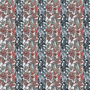 Lino cut eucalyptus,grevillea