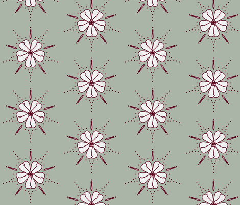 Winter Lily fabric by anywherelane on Spoonflower - custom fabric