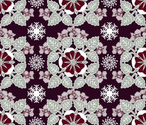 Winter bouquet fabric by mysso on Spoonflower - custom fabric