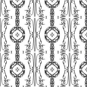 Black & White Mandala Stripes