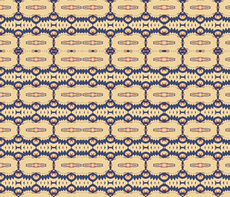 Southwest Cream & Navy fabric by ushermade on Spoonflower - custom fabric