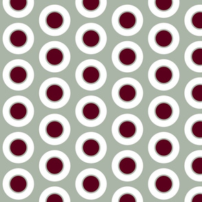 Claret-centered Elegant Holiday dinner dots by Su_G