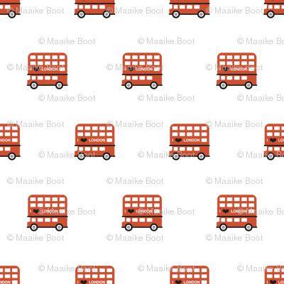 London city double decker bus UK union jack travel icons  illustration pattern SMALL