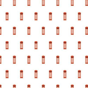 London city telephone booth letter box UK union jack travel icons illustration pattern SMALL