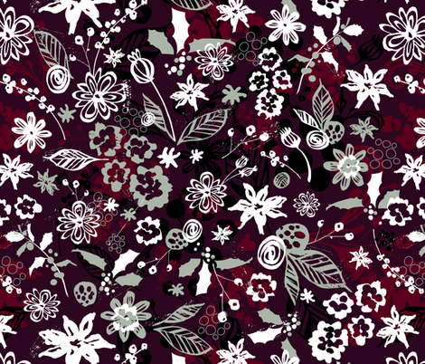 Holiday Floral fabric by sarah_treu on Spoonflower - custom fabric