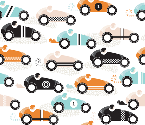 vroom vroom fabric by booboo_collective on Spoonflower - custom fabric