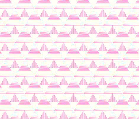 stripy triangles - pink fabric by vivdesign on Spoonflower - custom fabric