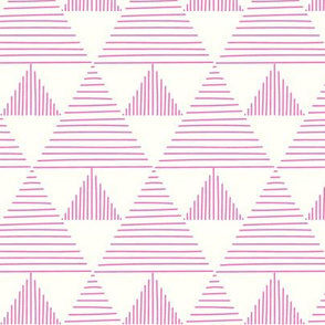 stripy triangles - pink