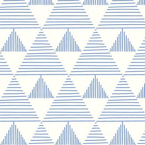 Stripy triangles - blue