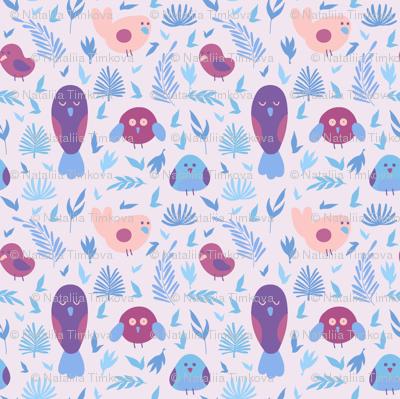 Violet birds