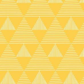 stripy triangles - yellow background