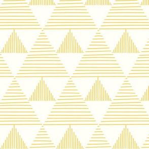 Stripy triangles - yellow