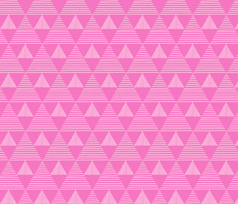 stripy triangles - pink background fabric by vivdesign on Spoonflower - custom fabric