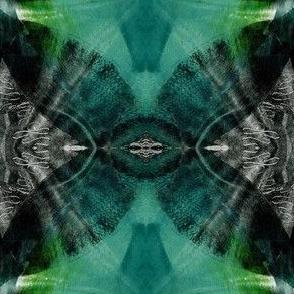 Rain-forest foliage print_Mirrored