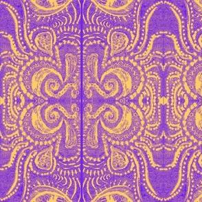 Saffron/Violet dreaming print _1 MIrrored-bigger