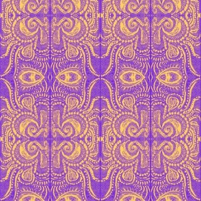 Saffron/Violet dreaming print _1 MIrrored-
