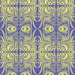 Cobalt/Lemon dreaming print _1 MIrrored-