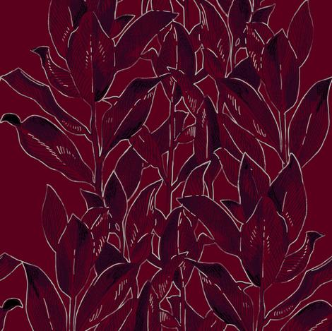 night_leaves_ch fabric by ninanaina on Spoonflower - custom fabric