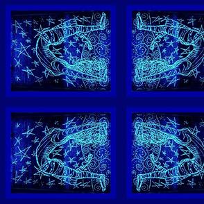 Acrobatty Print-Cobalt/aqua V
