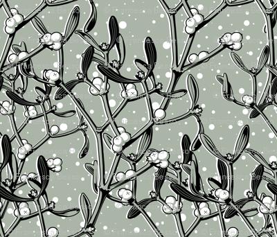 It snows on the mistletoe (gray)